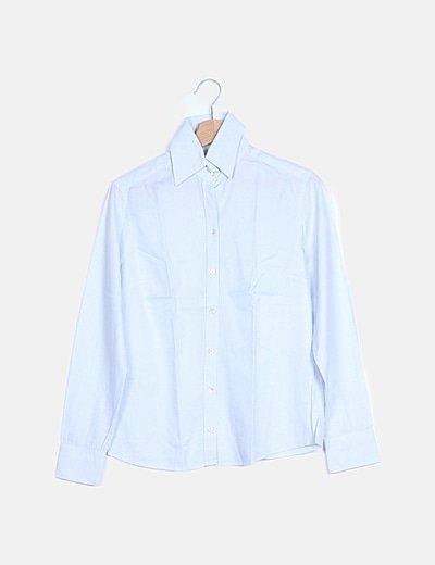 Camisa azul texturizada