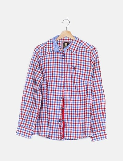 Camisa cuadros tricolor