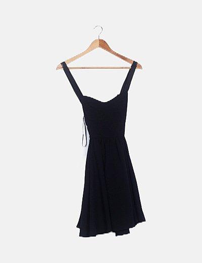 Vestido fluido negro tirante elástico