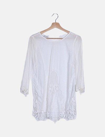 Blusa blanca crochet