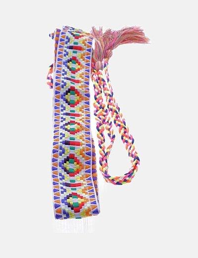 Cinturón étnico multicolor