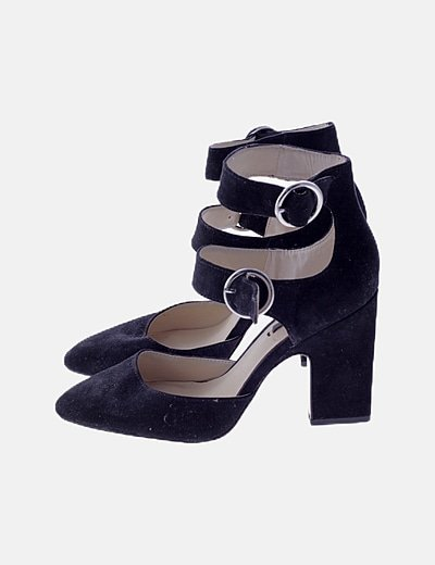Zapatos hebillas negros
