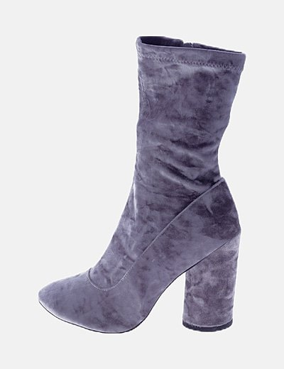 Botines terciopelo gris