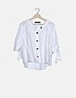 Blusa abotonada blanca Zara