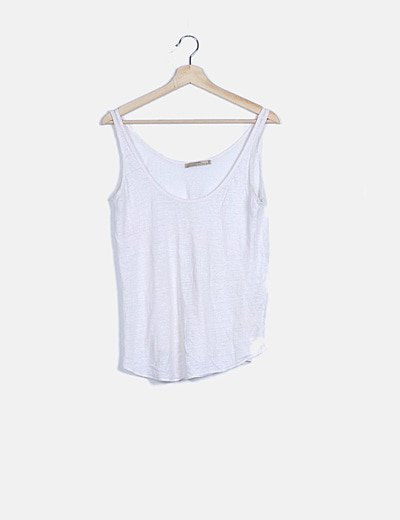 Camiseta blanca jaspeada