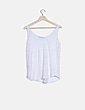 Camiseta blanca jaspeada Zara