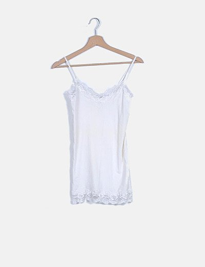 Blusa lencera blanca elástica