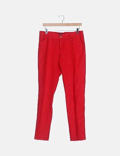 Pantalón lino rojo