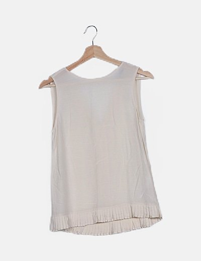 Blusa blanco roto plisada