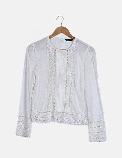 Blusa blanca plumetti