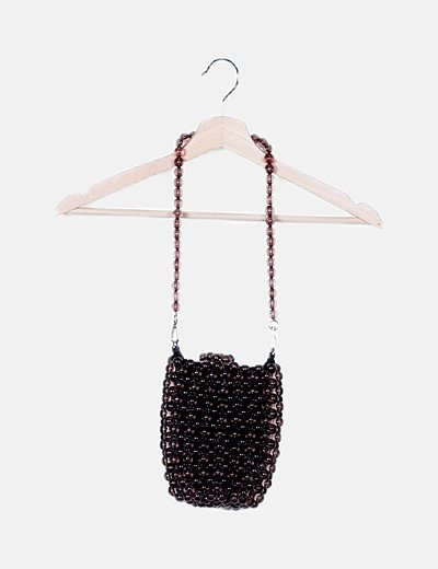 Bolso saco mini bolas marrones