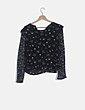 Blusa gasa estampada floreada Zara