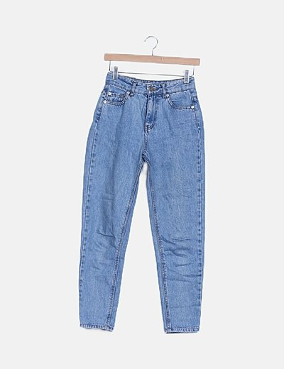 Jeans denim mon fit azul medio