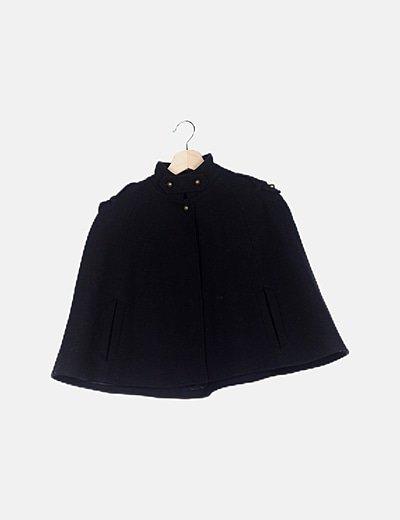 Capa corta lana negra