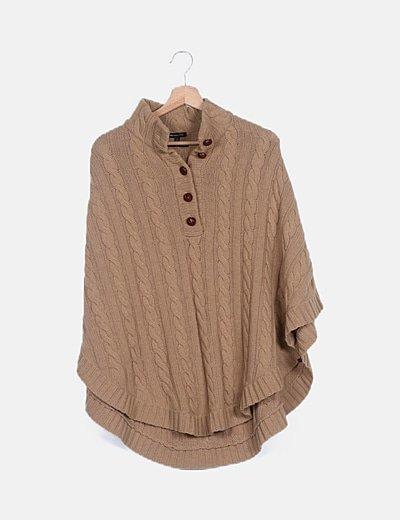 Poncho lana beige