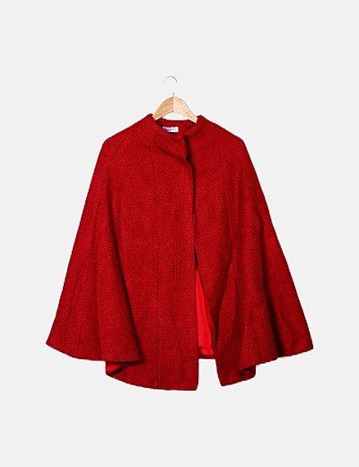 Capa tweed rojo