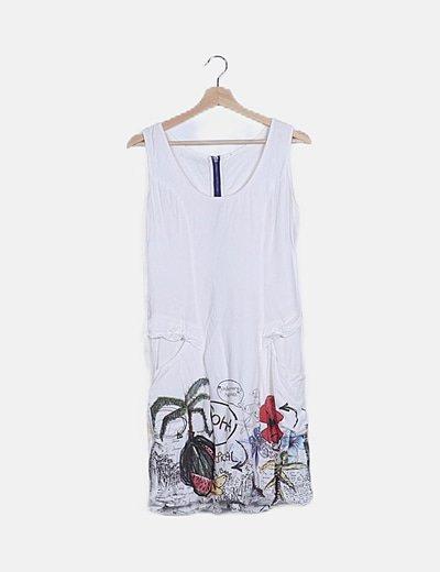 Vestido blanco tirantes
