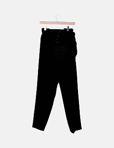 Pantalón peperbag negro