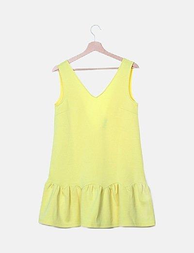 Vestido amarillo volante