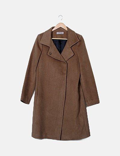Abrigo largo taupe
