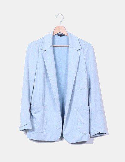Blazer azul jaspeada