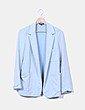 Blazer azul jaspeada Topshop