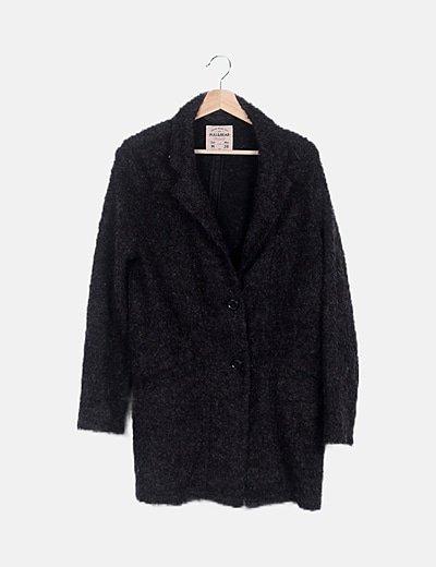 Abrigo largo rizo gris