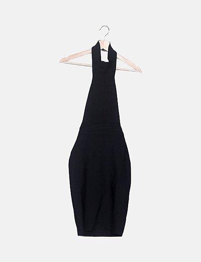 Vestido bandage halter negro