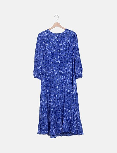 Vestido maxi azul eléctrico