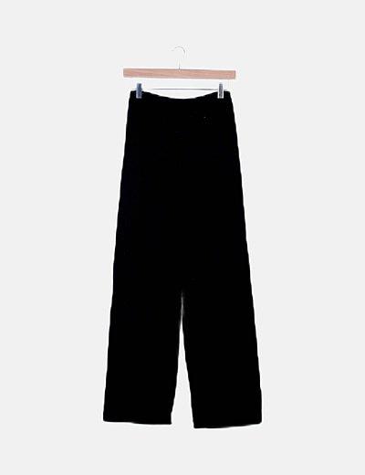 Pantalón negro tricot