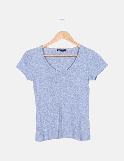 Camiseta gris manga corta