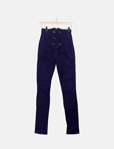 Jeans morado high waist