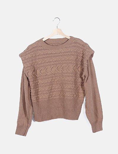 Jersey marrón ochos