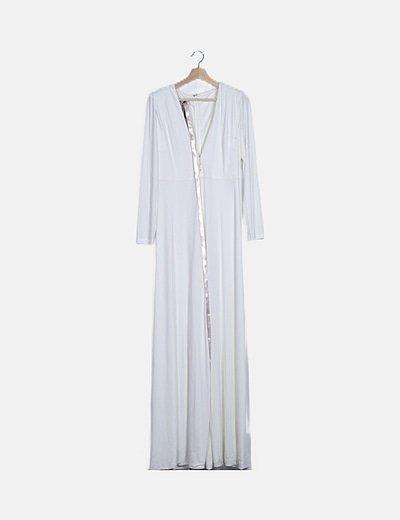 Vestido largo elástico blanco