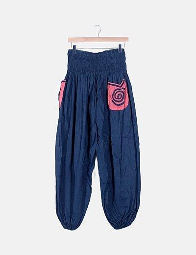 Pantalón bombacho azul petróleo