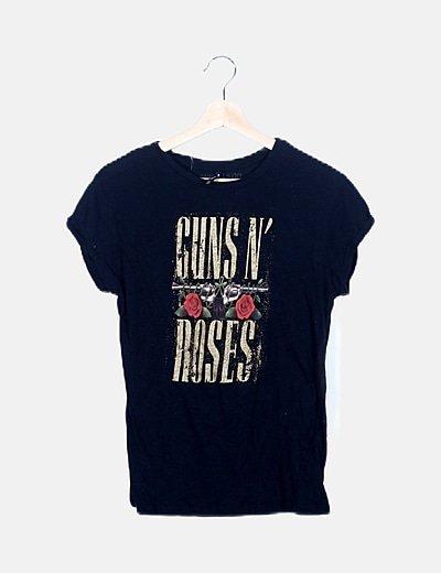 Camiseta negra guns n´roses