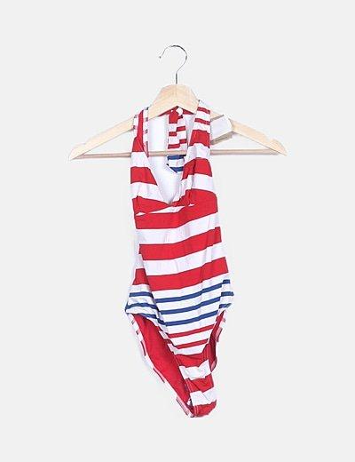 Bañador tricolor de rayas