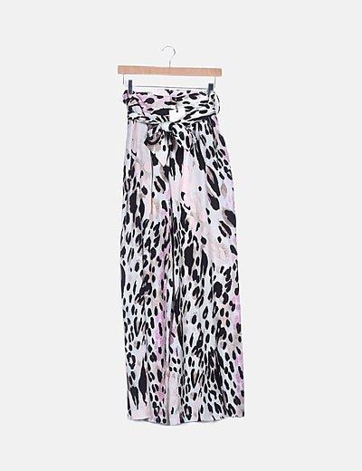 Pantalón estampado animal print