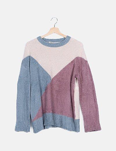 Jersey multicolor manga larga