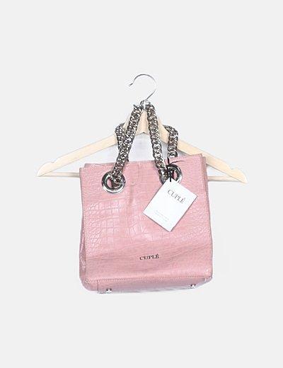 Bolso de mano estructurado rosa