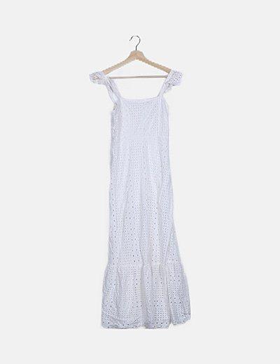 Vestido maxi blanco guipur