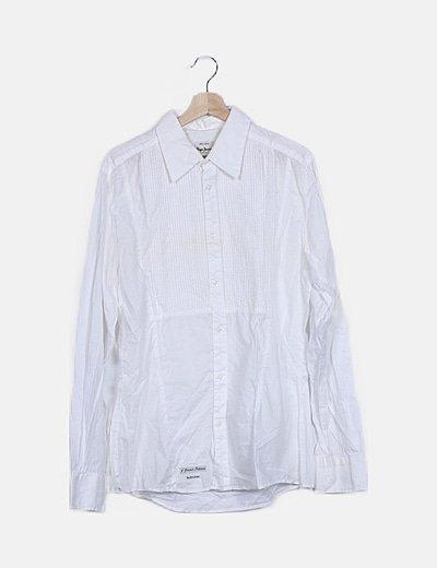 Camisa blanca detalles plisados