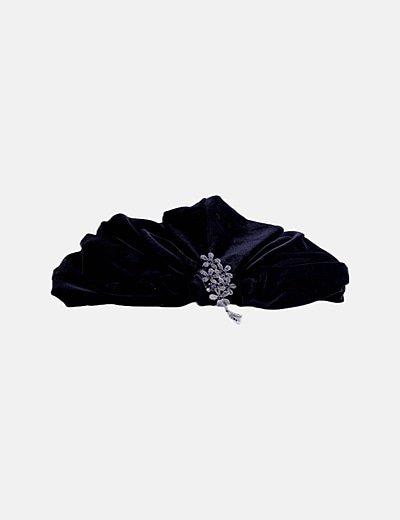 Gorro antelina negro strass