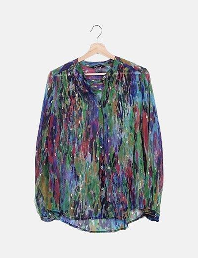 Camisa multicolor semitransparente