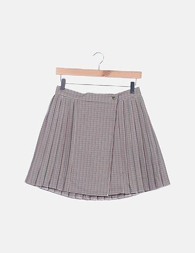 Mini falda plisada