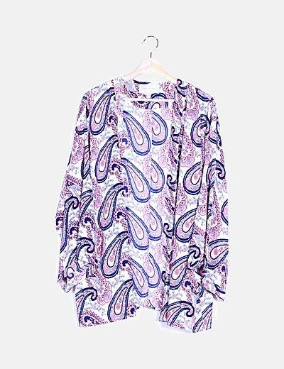 Kimono estampado paisley