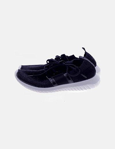 Sneaker calcetín negra