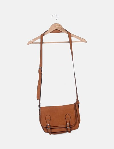 Bolso satchel camel