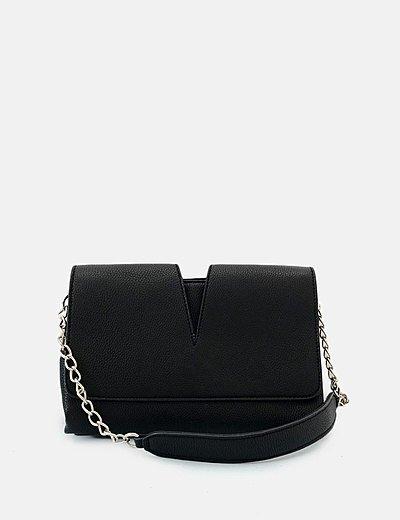 Bolso hombro texturizado negro