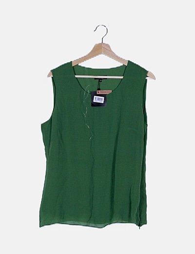 Conjunto blusa fluido verde